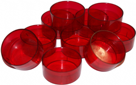 Tealight Cup/ Mould - Red Polycarbonate 4 hour Cup